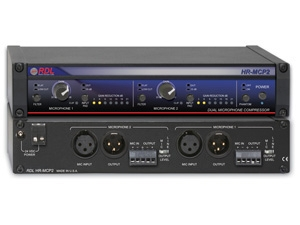 RDL Introduces HR-MCP2 Dual Channel Professional Microphone Compressor